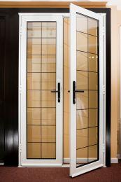 алюминиевые двери со стеклопакетом цена