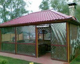 защитные шторы для беседок и веранд купить